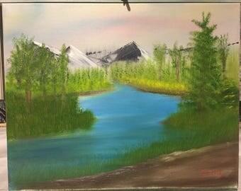 Original oil painting - Quiet River