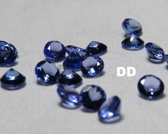 Top Quality Tanzanite faceted round AAA quality calibrated size loose gemstone wholesale 100% Natural Stone Tanzanite 5mm round