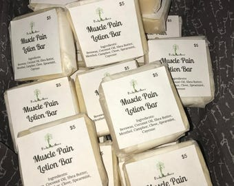 Muscle Pain Lotion Bars