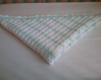 Handmade Baby Blanket in a corner to corner design