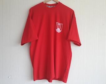 Vintage 90's Adidas T-shirt Men's size L, adidas vintage red T-shirt, vintage adidas, adidas vintage, adidas CSV, t shirt vintage