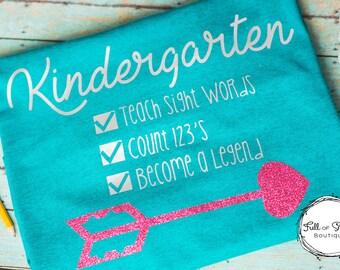 Kindergarten Teacher Shirt