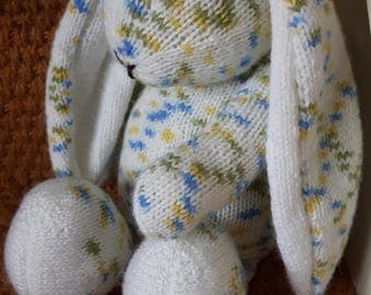 Hand knitted Floppy Bunny