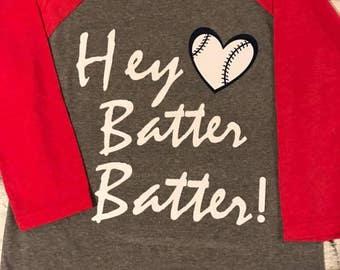 Hey Batter Batter! Baseball Tee