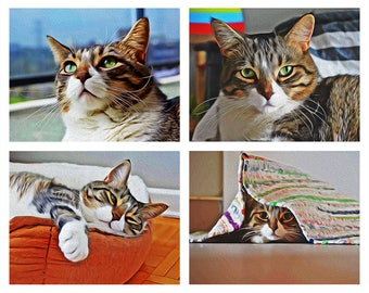 4 in 1 Digital Painting Pet Portrait