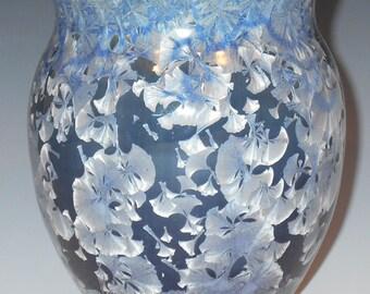 Crystal etched vase