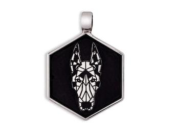 Doberman dog tag Silver 925