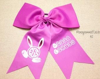 Monogram Easter Bow