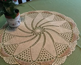 Doilie. Home decor. Lace table top.