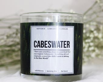 Cabeswater ~ The Raven Cycle ~ 8 oz ~ Soy Candle for Bibliophiles