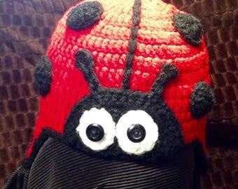 Ladybug crochet beanie (6-12 months)