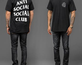 NEW ASSC Anti Social Social Club Logo Tee T-Shirt Black White Pink
