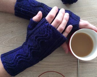 Knitted Fingerless Handwarmers / Mittens