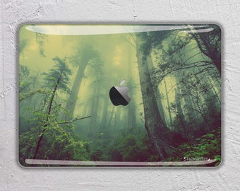 rain Forest nature trees landscape photography green mountain fog - MacBook Decal  Macbook Skin Apple MacBook Air Pro with Retina FSM271