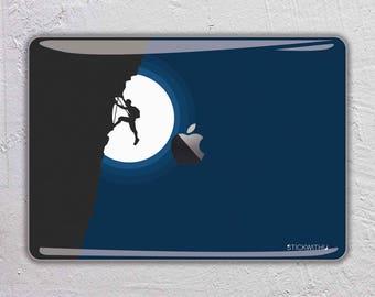 rock climbing macbook decal climber macbook sticker mountain climbing macbook skin macbook cover macbook pro skin macbook air 13 15 FSM306