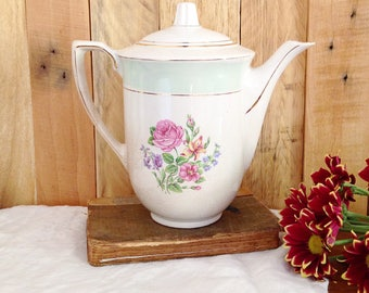 Teapot / old St. Amand porcelain coffee pot