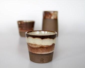 Brown and Cream Espresso Coffee Set