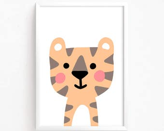 Sale 50% Off - Printable Baby Tiger art ( nursery decor instant download baby nursery art kids room decor nursery print animal nursery )