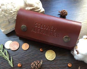 Personalised Genuine Leather Key Holder Key Organizer Key Case