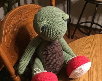 Large Handmade Stuffed Turtle