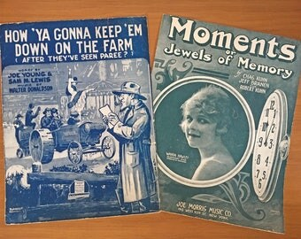 1919 New York Sheet Music - Set of 2