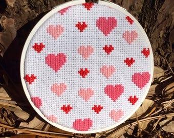 Sweet Hearts 4-inch Cross Stitch