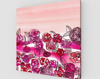 Sunset Garden Gallery Wrapped Canvas Print