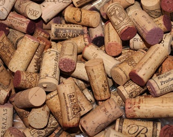 100 Recycled Wine Bottle Corks * Only Natural Cork