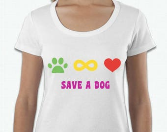 ADOPT A DOG T-SHIRTS - Infinity