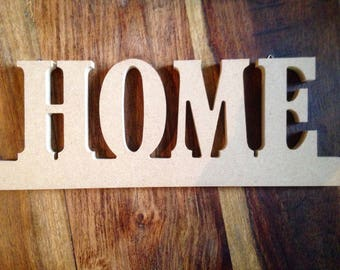 Unfinished Plain Wood Home Sign for Decoupage Painting Embellishment Crafts Standing/Hanging