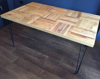 Handmade Rustic Oak Wood Dining Table