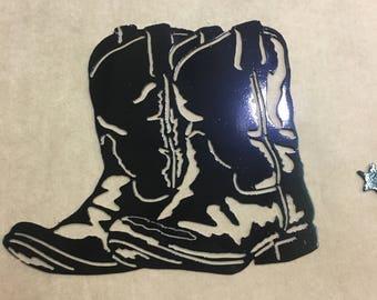 Metal art boots
