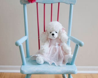 Email for shipping quote. See below. Rocking Chair, Mini Rocking Chair, Childrens Room, Nursery, Childrens Furniture, doll furniture