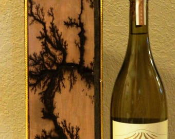 Lichtenberg Wine Gift Box and Original Art Made-to-Order