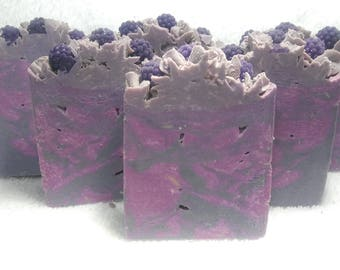 Black Raspberry Vanilla Handmade Artisan Soap