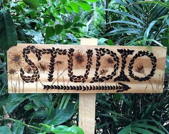 Custom Sign on Ply Wood