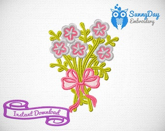 Embroidery design, flowers machine embroidery design digital file download