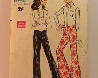 Vintage Sewing Pattern Vogue Pants 7627 Size 25.5