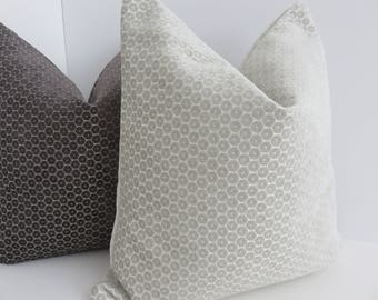P/Kaufmann Fabric- Cream Chenille Pillows Cover- Decorative Pillow Covers- Cream Pillows- Chenille Pillow-
