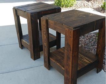 Rustic end tables