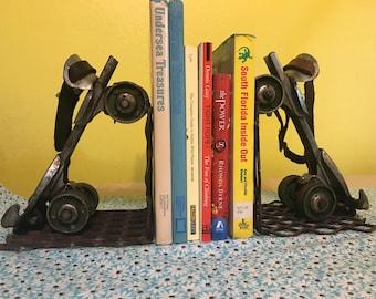 Roller skate bookends:  Vintage Hustler Speed King Roller Skate Book Ends