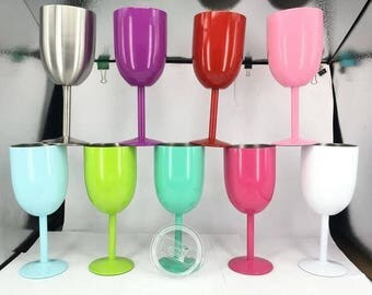 insulated metal wine glasses with lids