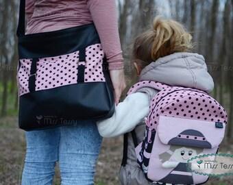 Mommy and Me Tessy bags | Mother Daughter set | Shoulder bag - kids backpack