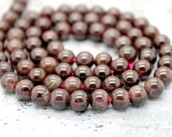 Garnet Round Gemstone Beads Natural Stone (3mm 4mm 5mm 6mm 7mm 8mm 10mm)