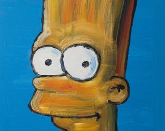 Bart Simpson Oil Painting