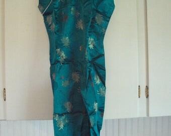 vintage Japanese dress, sleeveless