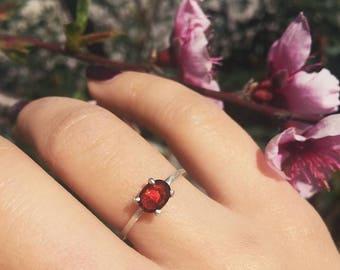Garnet Stone Ring