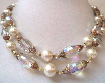 Classically Beautiful Double Strand Necklace ~ Beautiful Vintage Jewelry