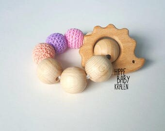 Wooden baby toys with beads
