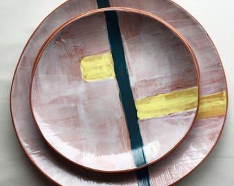 Ceramic handmade plates